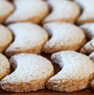 Half Moon Coconut Cookies