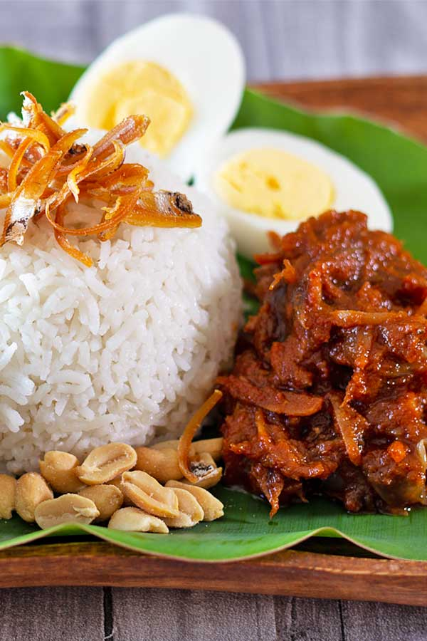 Coconut Milk Rice Nasi Lemak El Mundo Eats