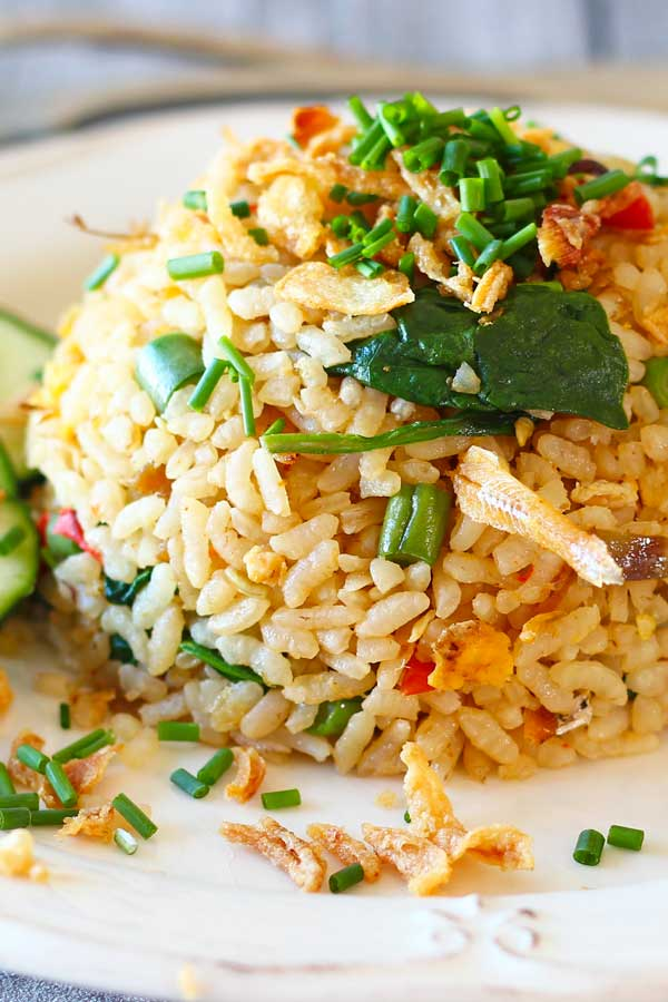 Spicy Anchovy Fried Rice