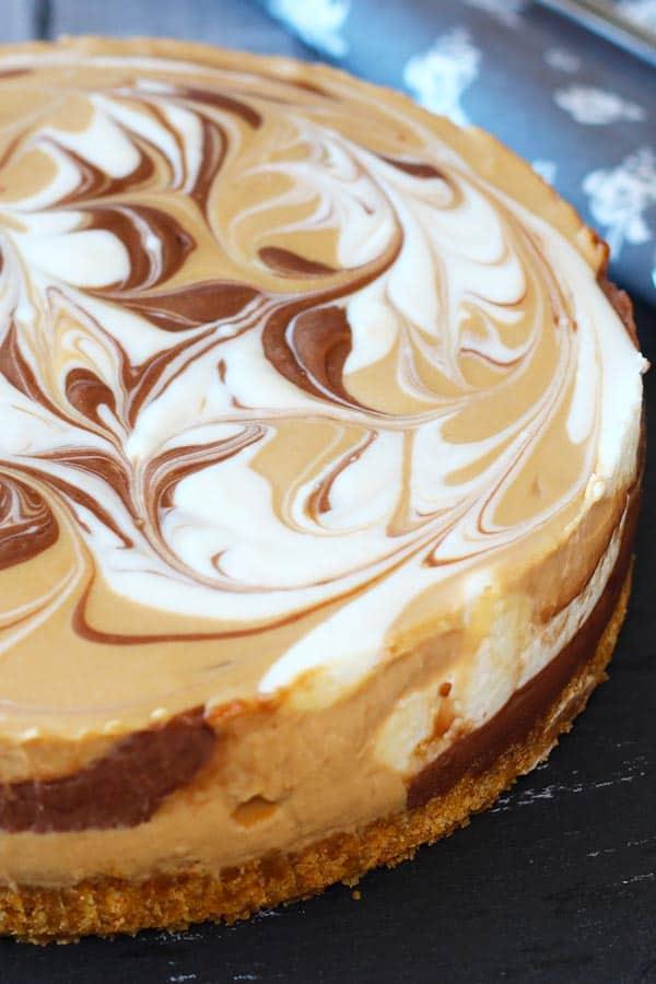 Nutella & Dulce de Leche Cheesecake