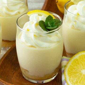 3 Lemon honey parfait on a table