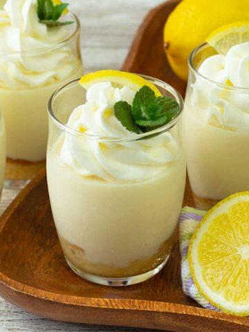 3 Lemon honey parfait on a table