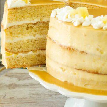 Caramel Pineapple Cake
