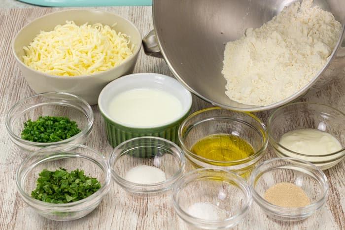 Cheese naan ingredients