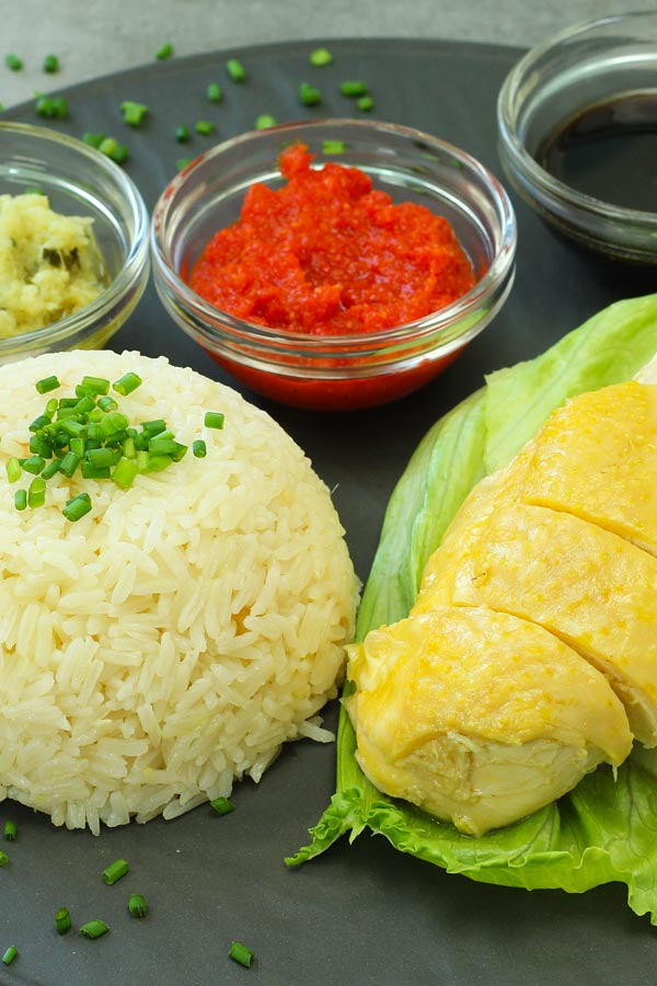 Hainanese Chicken Rice With 3 Sauces Recipe El Mundo Eats