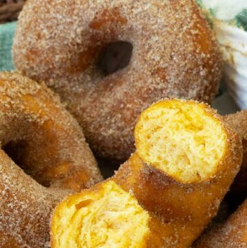 Yeasted Sweet Potato Donuts