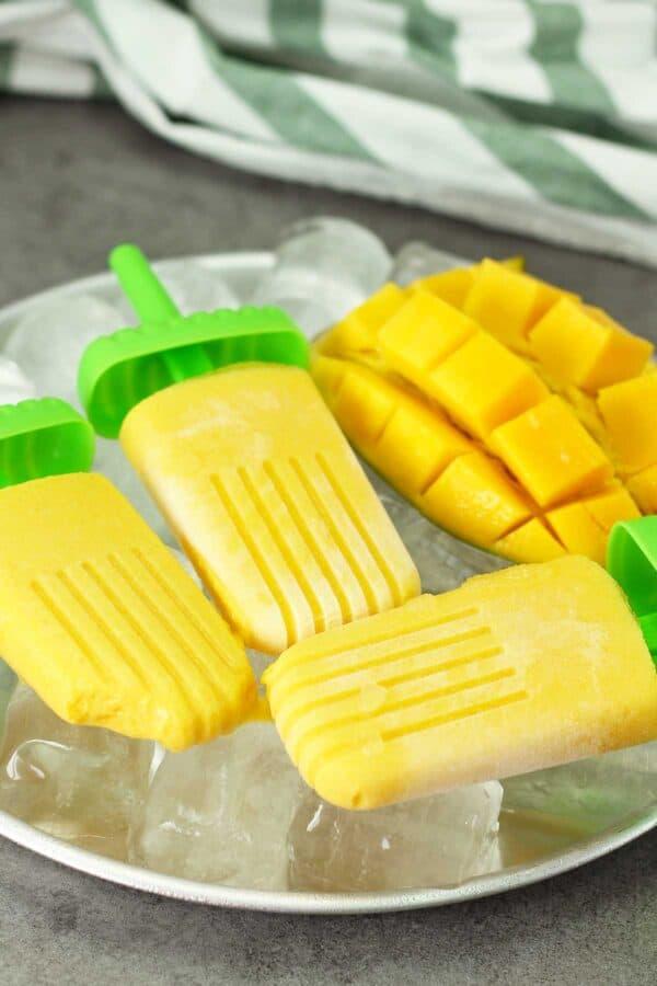 dairy free mango coconut popsicles