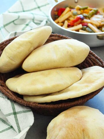 served pita bread