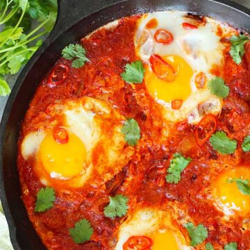 Eggs in sweet and spicy sambal