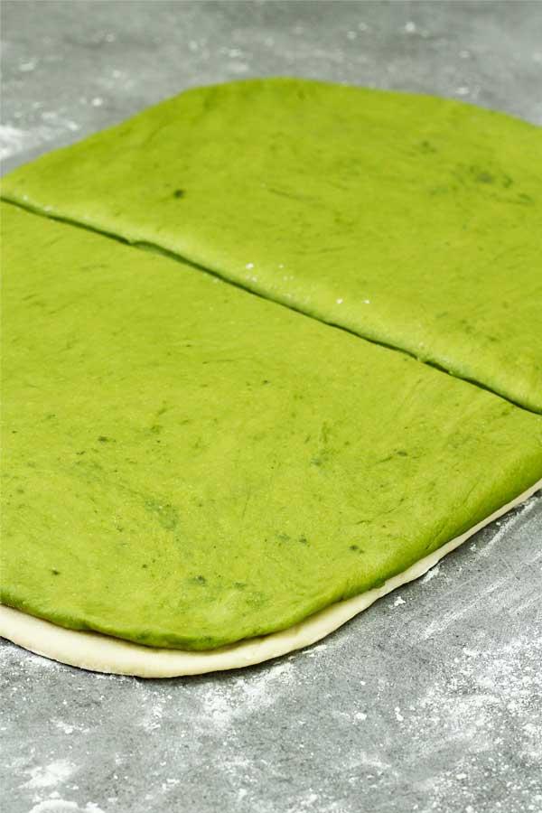 making matcha bread