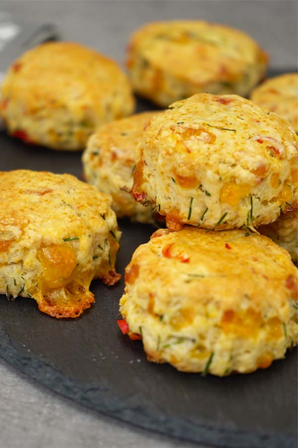 Chili cheese flaky biscuits