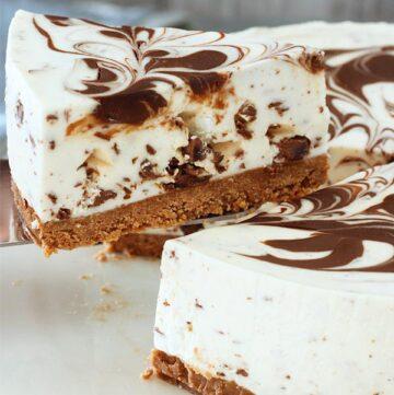 no bake stracciatella cheesecake