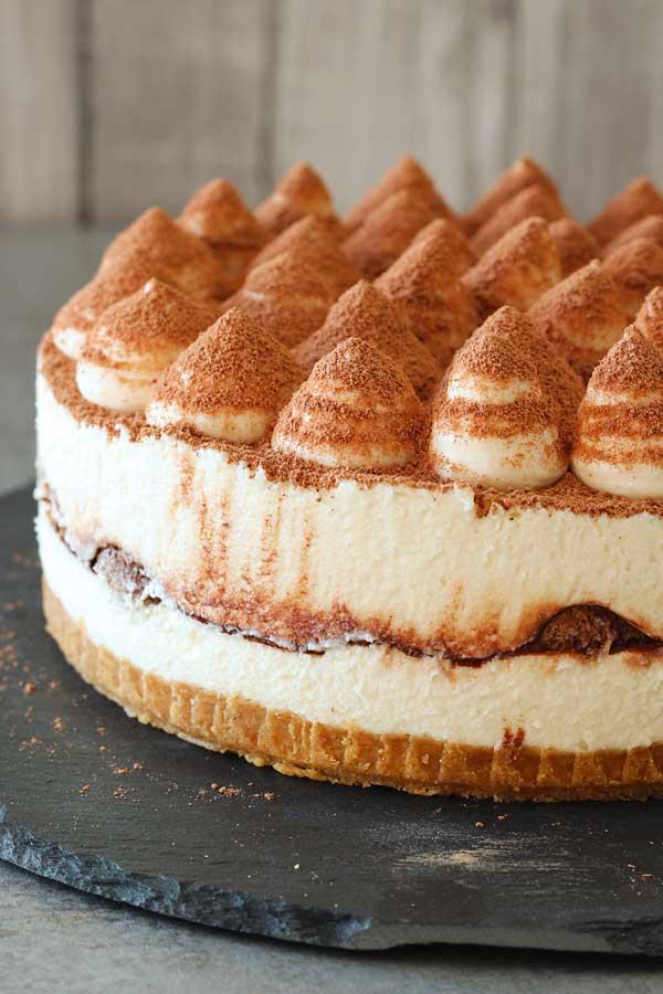 No bake tiramisu cheesecake