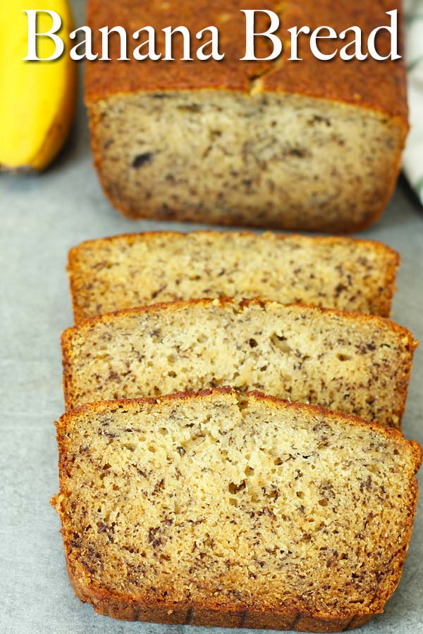 Super easy and basic classic banana bread that is super yummy, soft and moist. Yep. Don't throw your ugly looking bananas away, bake them into this delicious treat.