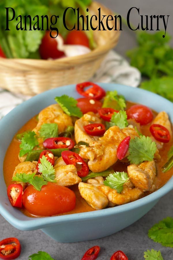 Simplified delicious Panang chicken curry. It's a Thai curry that's thick with coconut milk and wonderful combination of salty, sweet and nutty tastes.