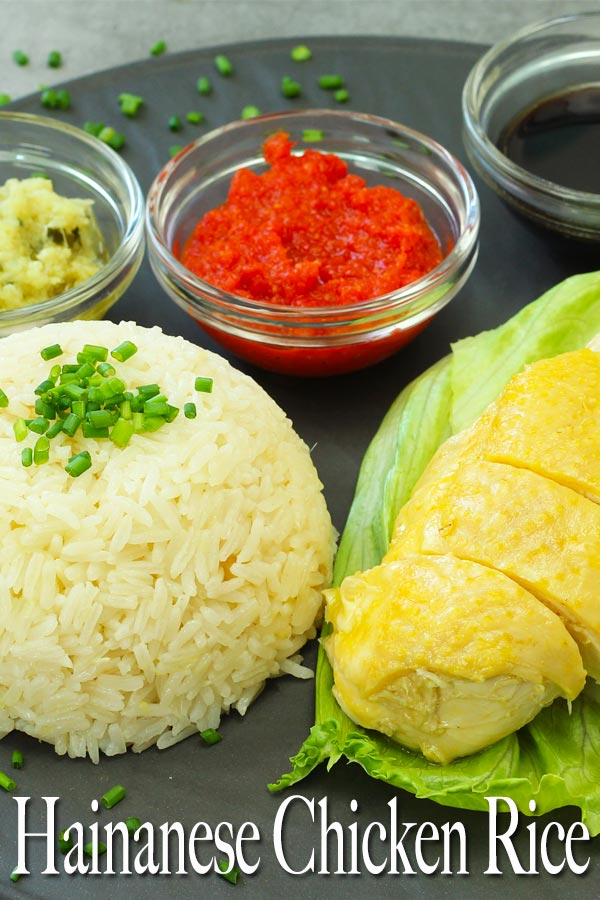 Amazing Hainanese Chicken Rice together with its 3 sauces. This recipe requires a few steps to it but every step is easy with simple ingredients.