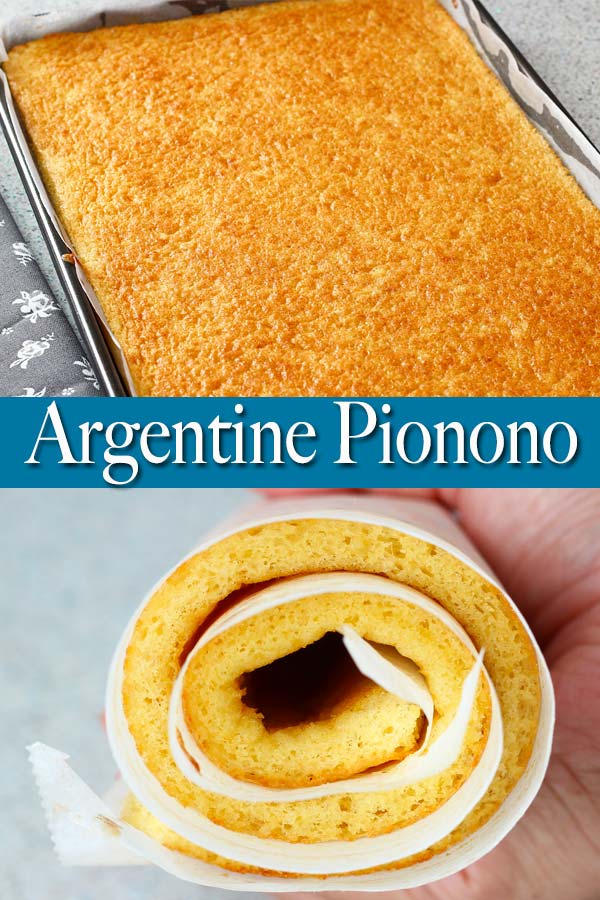 Fluffy and light Argentine pionono or roll cake! It can be used both for savory and sweet dishes. Simply spread your favorite fillings, roll, slice and serve!