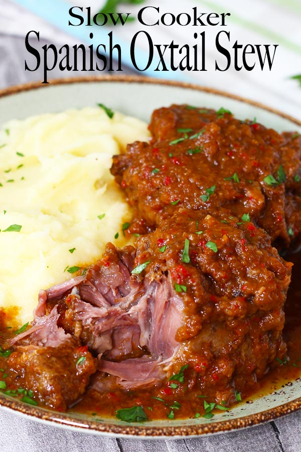 Super tender fall-off-the-bone oxtail in a delicious flavourful stew, prepared in a slow cooker. Simple steps and you'll be serving an amazing oxtail stew.