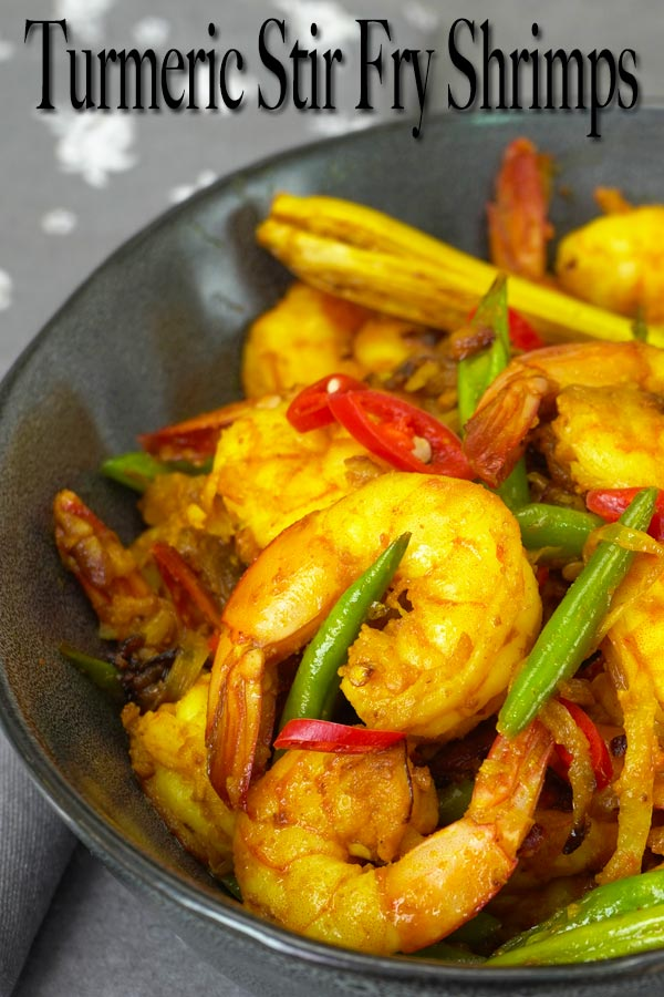 This turmeric stir fry shrimp recipe is the most basic and common stir fry in my homeland country Malaysia. It's one of the dish that many learnt to make when they start cooking, me included. Though it's very simple, it's very delicious and that's why it's everyone's favourite.
