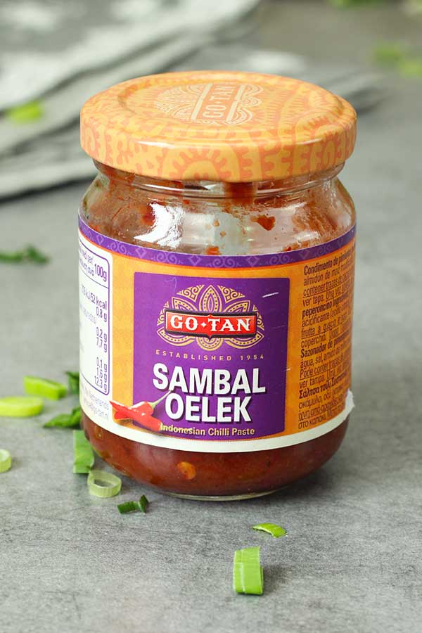 sambal oelek in a jar