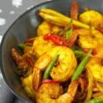 Turmeric Stir Fry Shrimps