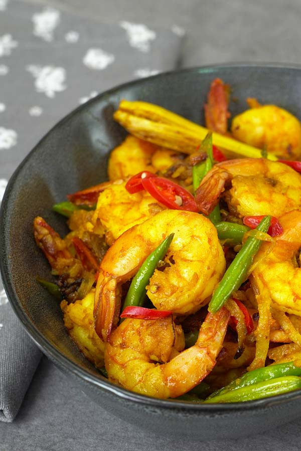 Turmeric Stir Fry Shrimps