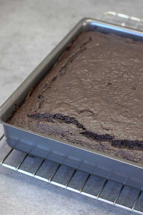 Zucchini brownies without topping