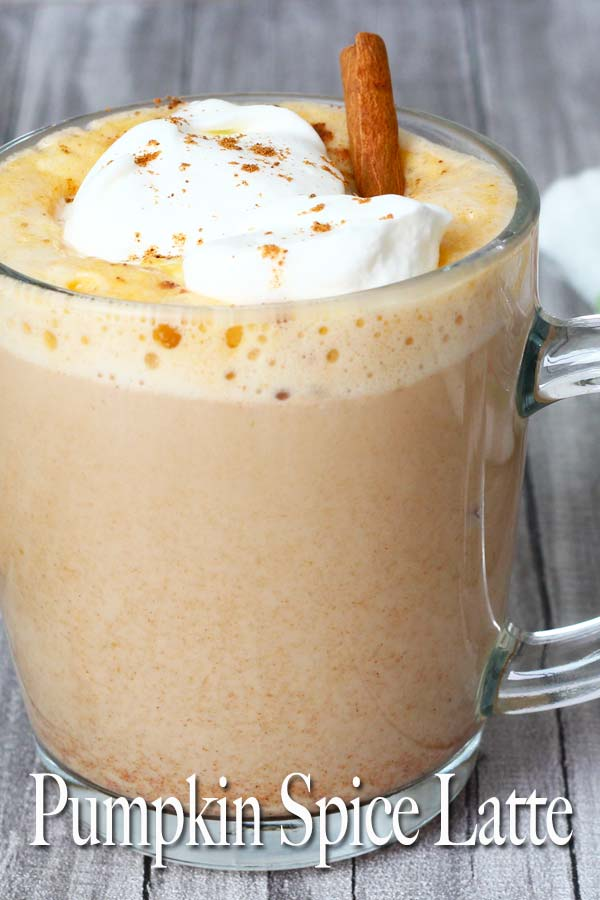 Pumpkin Spice Latte is a creamy latte with pumpkin puree, a touch of vanilla and pumpkin pie spice! Perfect drink to welcome the autumn!