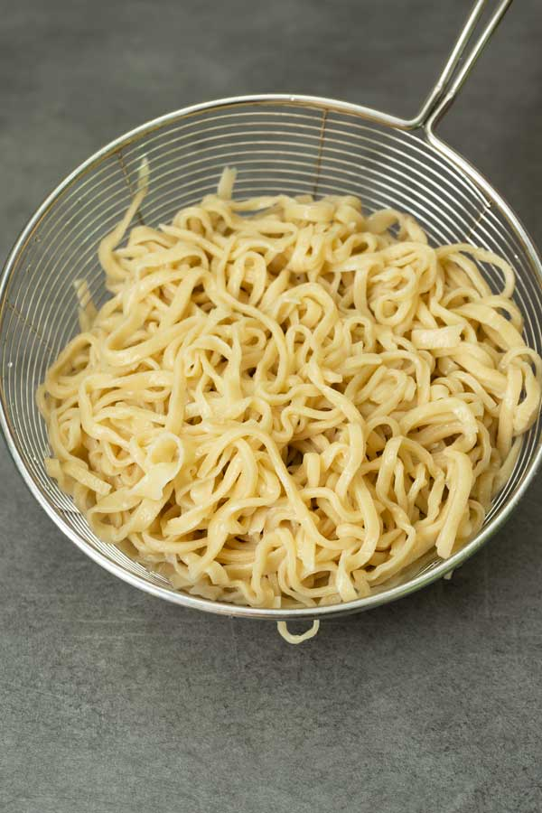 homemade Chinese egg noodles