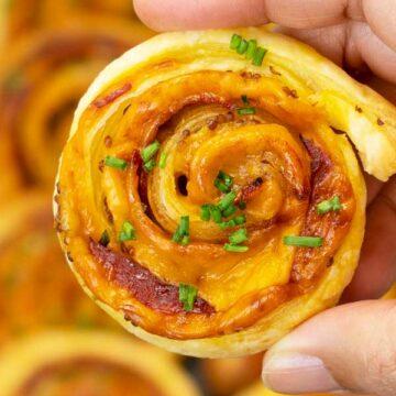 Puff Pastry Chorizo and Cheddar Pinwheels