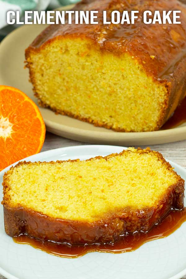 Soft and fluffy clementine cake drizzle with clementine sticky sauce. Yes!! Just make this and enjoy, don't hesitate. Your kitchen will smell heavenly. #cake #clementinecake #loafcake #easyrecipe #elmundoeats