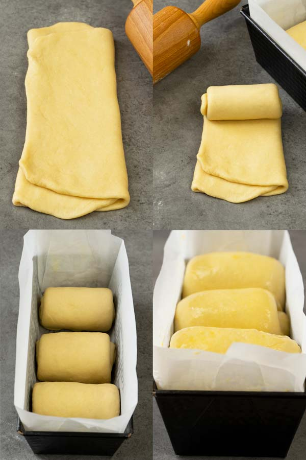 Process of making Japanese milk bread rolls