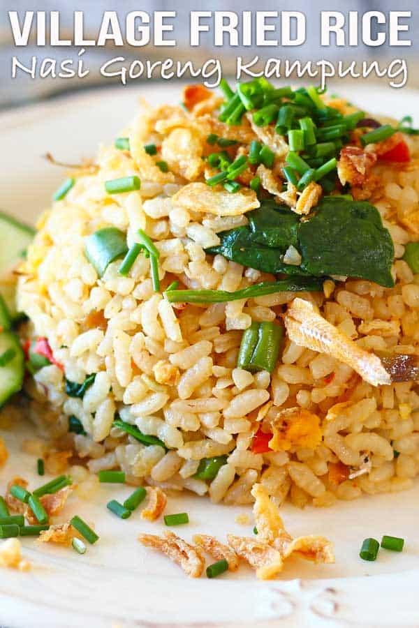 Spicy Anchovy Fried Rice Nasi Goreng Kampung El Mundo Eats