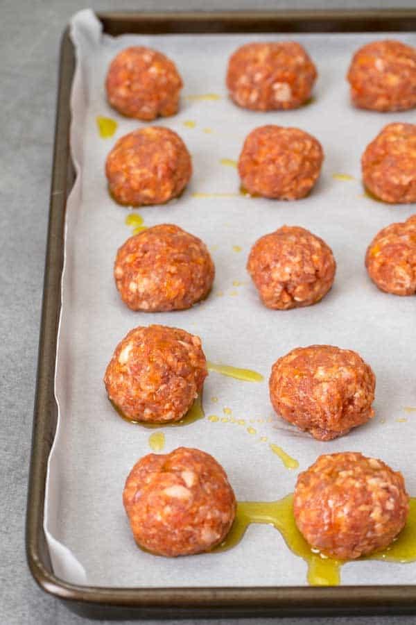 raw Korean meatballs