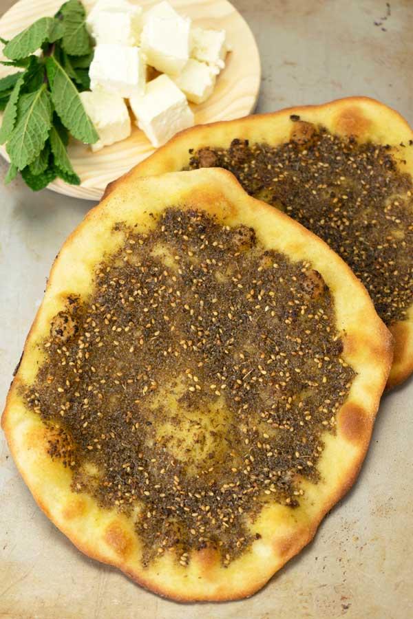Lebanese Flatbread Manoushe Zaatar