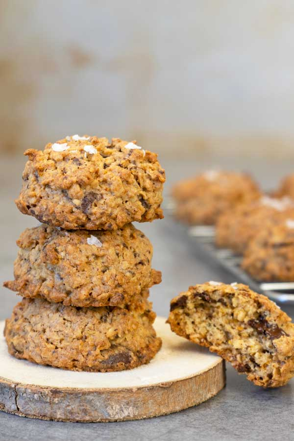 stacked oatmeal cookies