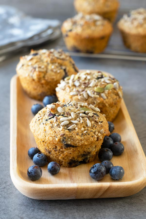 Healthy Blueberry Oatmeal Muffins