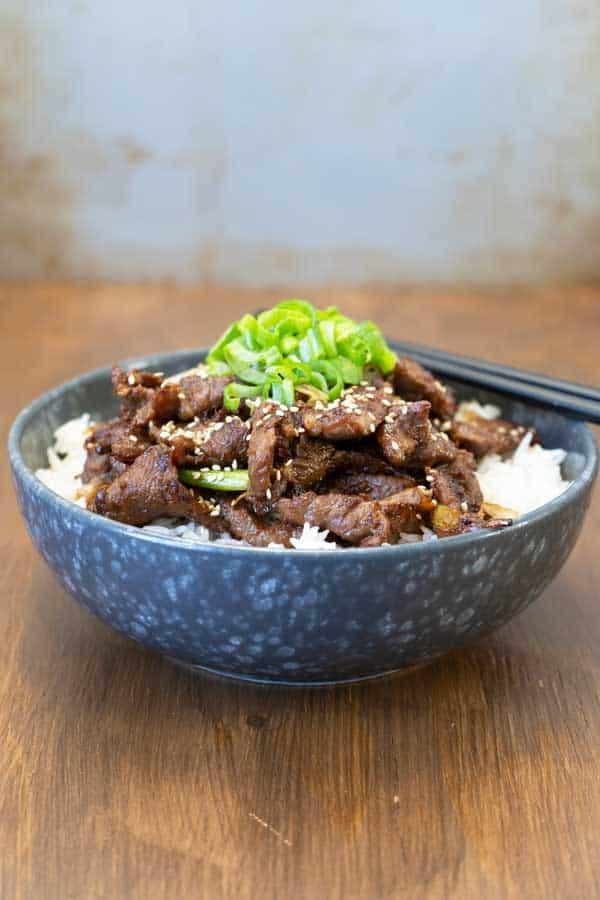 Korean beef bowl over rice