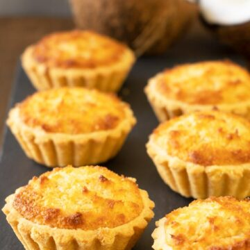 Hong Kong Style Coconut Tarts on the table