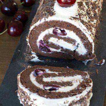 Black Forest Roll Cake