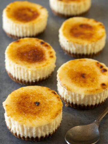 Creme Brulee mini cheesecakes