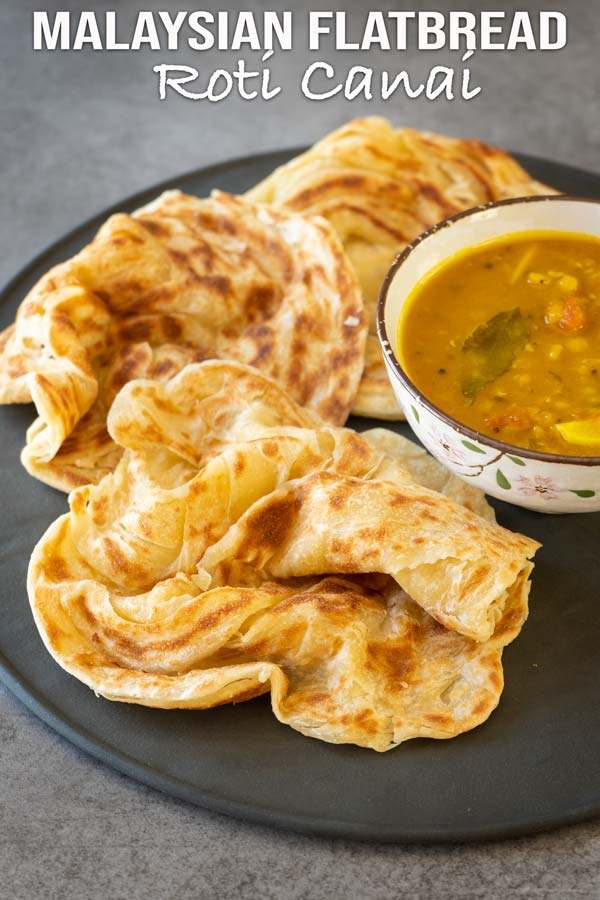 Authentic Malaysian flatbread recipe or famously known as roti canai. Fluffy and soft with crispy edges. This homemade roti canai is very easy to prepare. #flatbread #roticanai #malaysianrecipe #elmundoeats