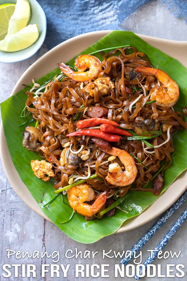 Simplified yet delicious Penang Char Kway Teow! Better than take outs, that's for sure. A very famous meal in my homeland country Malaysia. #stirfry #noodles #malaysiancuisine #penang #elmundoeats