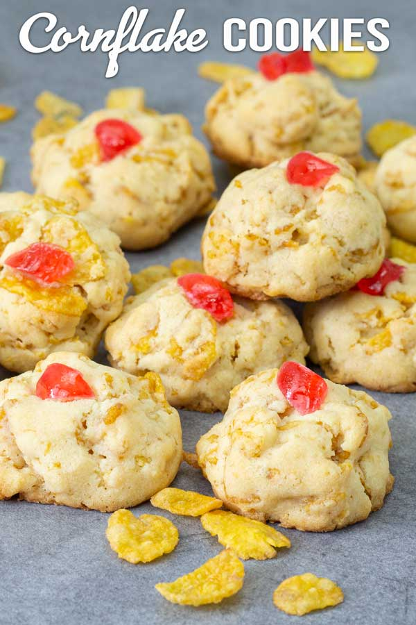 Super easy, delicious and fun cookies to prepare. With just a handful of ingredients and a few minutes, you can serve these cornflake cookies in no time. #cookies #cornflake #malaysiancookie #easyrecipe #elmundoeats