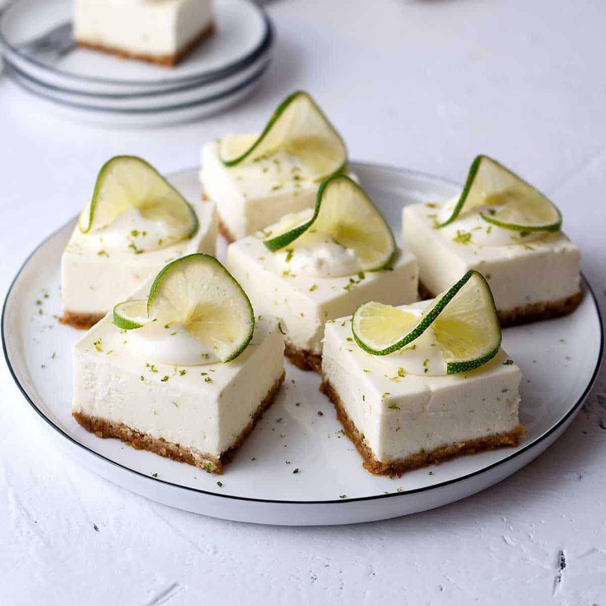 No Bake Lime Cheesecake Bars El Mundo Eats