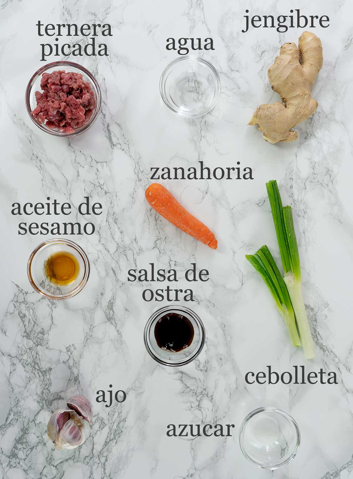 Ingredientes relleno de baozi