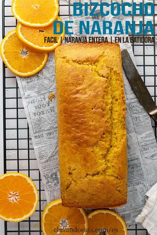 Como hacer un bizcocho de naranja super fácil y rápido, se hace con la naranja entera con piel, ¡se mete todo en la batidora y listo!. Visita elmundoeats.com/es para más recetas como esta.