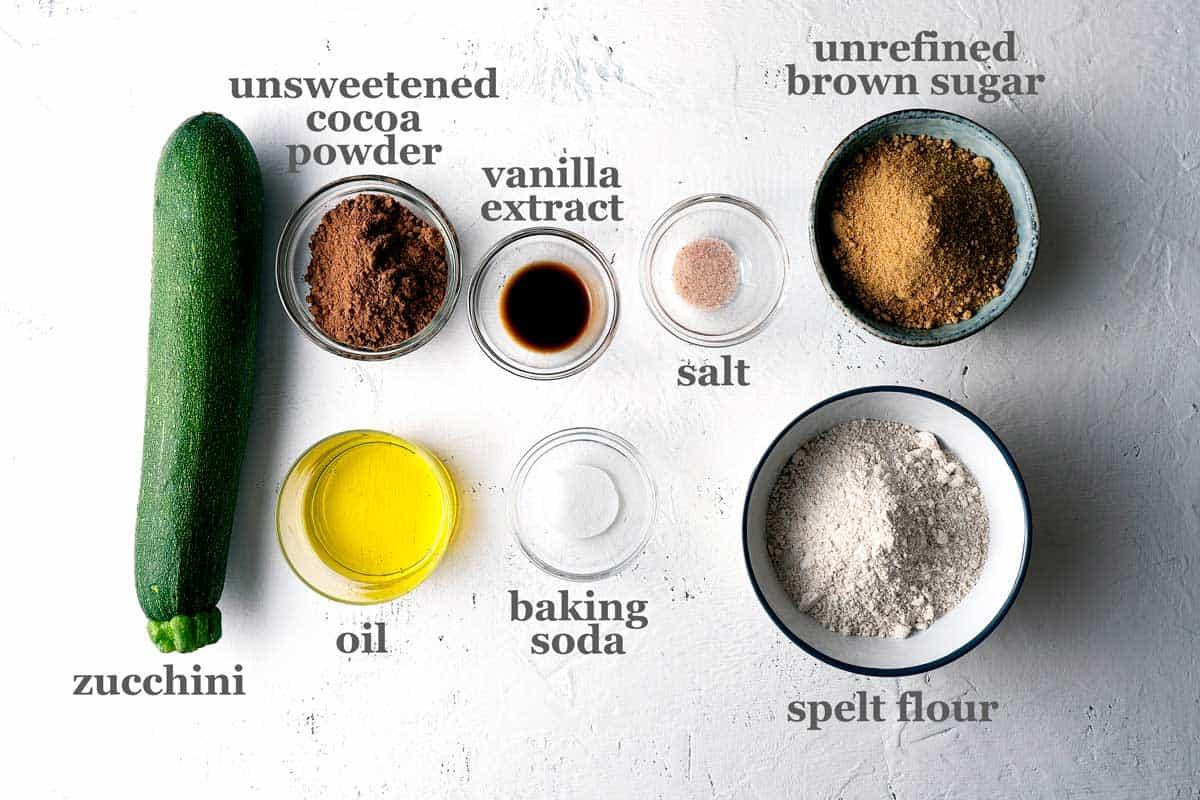 Eggless zucchini brownies ingredients