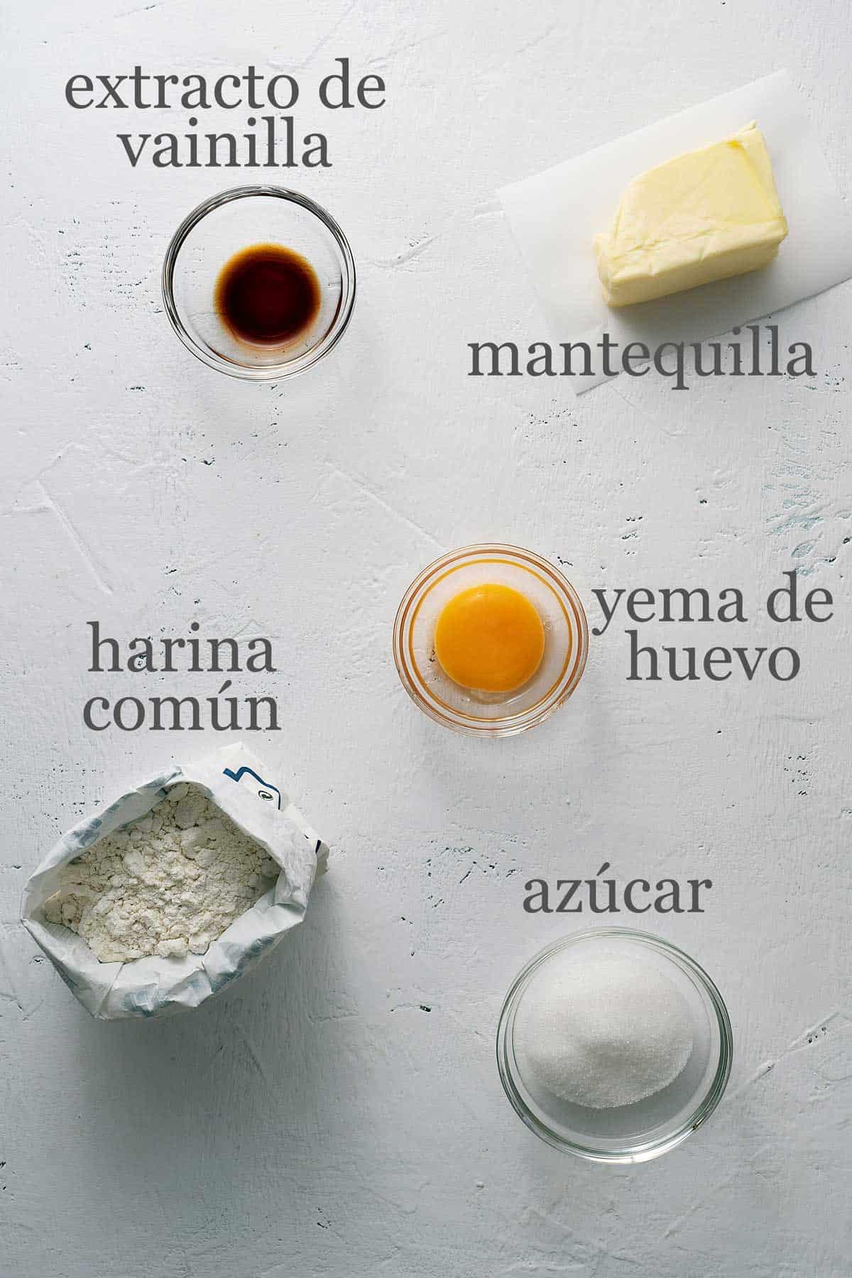 ingredientes para masa de tartaletas