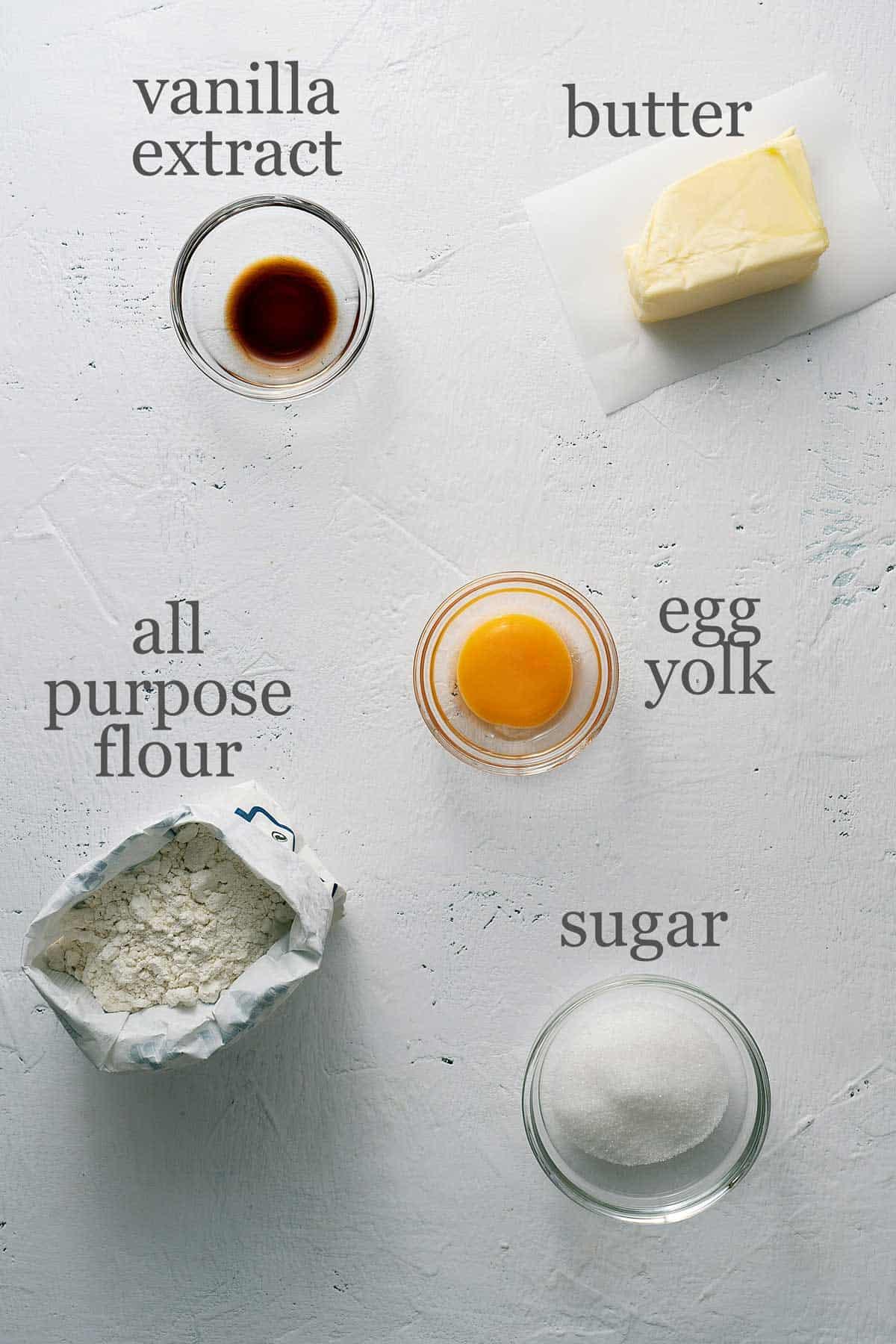 ingredients for tart shells
